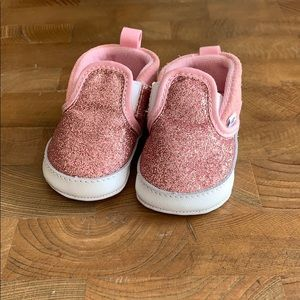 Vans Pink Sparkle Baby Shoes Infant Size 2